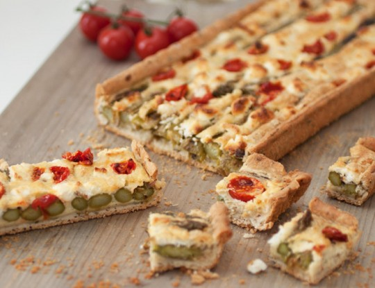 Bettine geitenkaas-asperge quiche