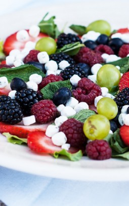 fruitsalade met bettine geitenkaas